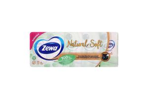Хусточки паперові чотирьохшарові Natural Soft Zewa 10х9шт