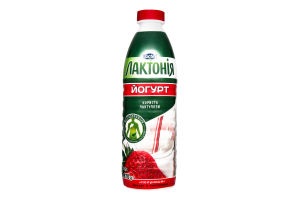 Йогурт 1.5% Клубника Лактонія п/бут 870г