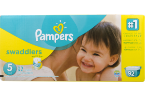 Pampers Swaddlers Diapers Size 5 (27+ lb) - 92 CT