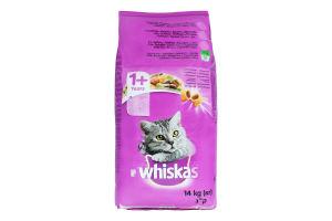 Корм сухой для взрослых кошек от 1года С ягненком Whiskas м/у 14кг