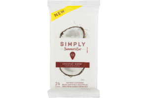 Simply Summer's Eve Cleansing Cloths Coconut Water - 24 CT