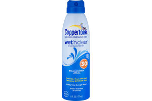 Coppertone Sunscreen Continuous Spray Wet 'n Clear 30 SPF