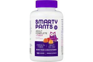 SmartyPants Adult Complete + Fiber Multivitamin Gummies - 120 CT