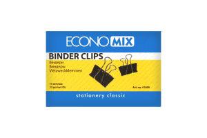 Біндери EconoMix 15мм 12шт. арт.41009