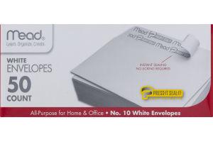 Mead No. 10 White Envelopes - 50 CT