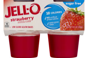 Jell-O Sugar Free Strawberry - 4 CT