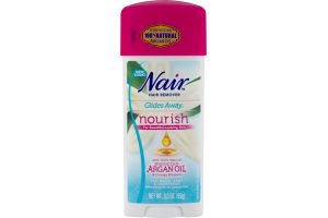 Nair Hair Remover Glides Away for Bikini, Arms & Underarms with Argan Oil