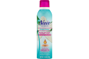 Nair Hair Remover Sprays Away No Touch Spray Max Moroccan Argan Oil