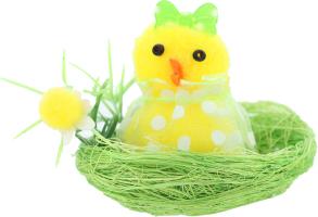 Сувенир декоративный Цыплята в гнезде в ассор D-*1