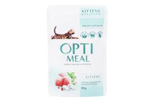Корм вологий для котят з куркою Optimeal м/у 85г