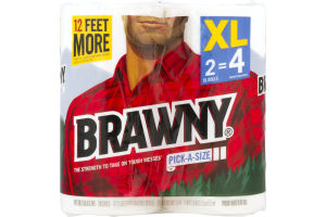 Brawny Paper Towels Pick-A-Size XL Rolls - 2 CT