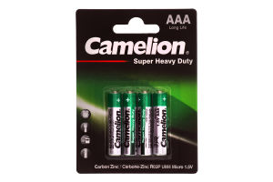 Батарейки ААА 1.5V R0P-BP4G Super Heavy Duty Camelion 4шт