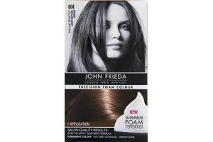 John Frieda Precision Foam Colour Brilliant Brunette 6N Light Natural Brown Permanent Colour
