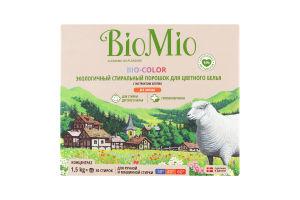 Порошок стиральный для цветного белья с экстрактом хлопка Bio-Color BioMio 1.5кг