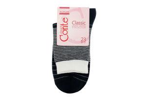 Шкарпетки жін. бавовняні CLASSIC, р.23, 058 темно-синій