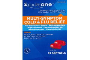 CareOne Multi-Symptom Cold & Flu Relief Softgels - 24 CT