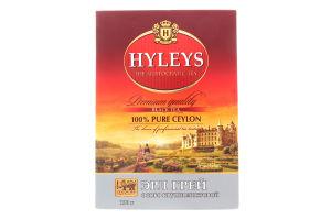 Чай черный байховый цейлонский крупнолистовой с ароматом бергамота Earl Grey Hyleys к/у 100г