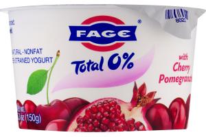Fage Total 0% Nonfat Greek Strained Yogurt Cherry Pomegranate