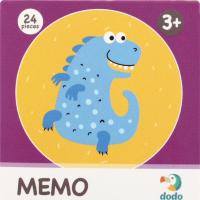 Игра настольная для детей от 3лет №300142 Динозавры Memo Dodo 24шт