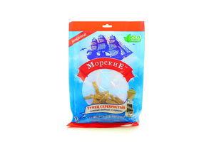 Тунец серебристый солено-сушеный с перцем филе-соломка Морские м/у 70г