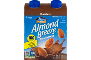Blue Diamond Almonds Almond Breeze Almondmilk Chocolate - 4 PK