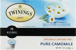 Twinings of London Keurig Naturally Caffeine Free Pure Camomile Tea