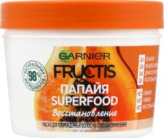 Маска для волосся Папайя Superfood Відновлення Fructis Garnier 390мл
