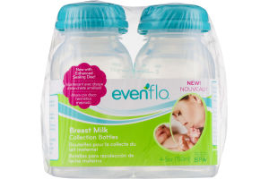 Evenflo Breast Milk Collection Bottles - 4 CT