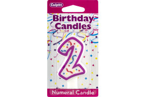 Culpitt Birthday Candles Numeral Candle 2