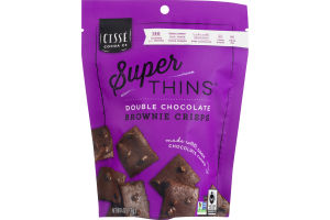 Cisse Cocoa Co Super Thins Brownie Crisps Double Chocolate