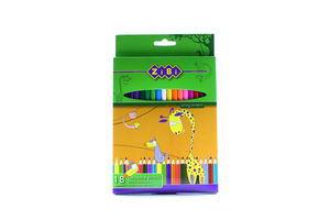 Олівці ZiBi кольорові 18 кольорів ZB.2402