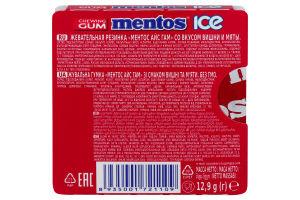 Гумка жувальна Cherry Mint Ice Mentos к/у 12.9г