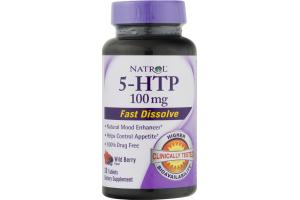 Natrol 5-HTP Fast Dissolve Dietary Supplement Wild Berry - 30 CT