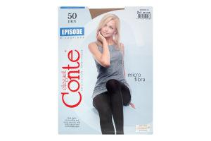 Колготки жіночі Conte Episode №8С-25СП 50den 2-S natural