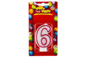 Свічки Happy Party Веселе свято для торту глазуров рожева 6