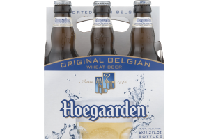 Hoegaarden Original Belgian Wheat Beer Bottles - 6 CT