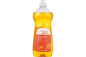 Guaranteed Value Dishwashing Liquid Citrus Scent