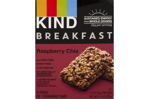 KIND Breakfast Bars Raspberry Chia - 4 CT