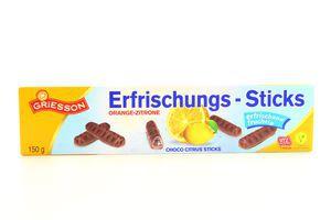 Палички Griesson 150г шокол. із цитрусової начин. (Німеччина)