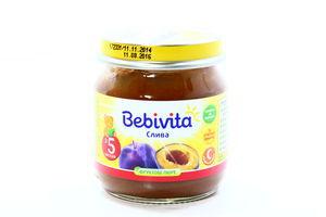 Пюре для детей от 5мес Слива Bebivita с/б 100г