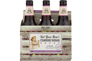 Small Town Brewery Not Your Mom's Strawberry Rhubarb Beer - 6 PK