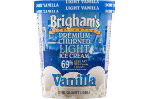 Brigham's Premium Churned Light Ice Cream Vanilla