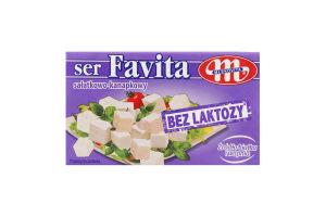 Сир ФАВІТА без ЛАКТОЗИ розсільний 18% Млековіта 270г