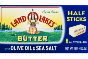 Land O Lakes Butter Spread with Olive Oil & Sea Salt Half Sticks - 8 CT
