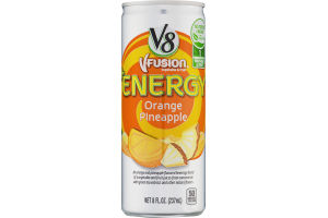 V8 V-Fusion +Energy Orange Pineapple
