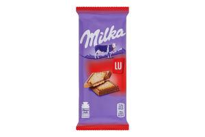 Шоколад молочный с печеньем Lu Milka м/у 87г