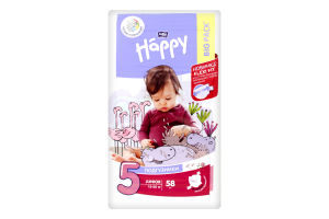 Подгузники детские junior Happy Baby Bella 58шт