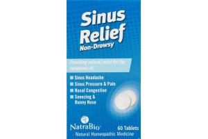 NatraBio Non-Drowsy Sinus Relief Tablets