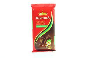 Шоколад черный с лесными орехами Корона 90г