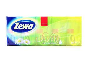 Хусточки Zewa Softis носові паперові 10*9шт